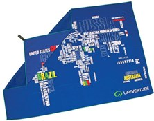 Lifeventure SoftFibre Printed Towel - Giant - World in Words