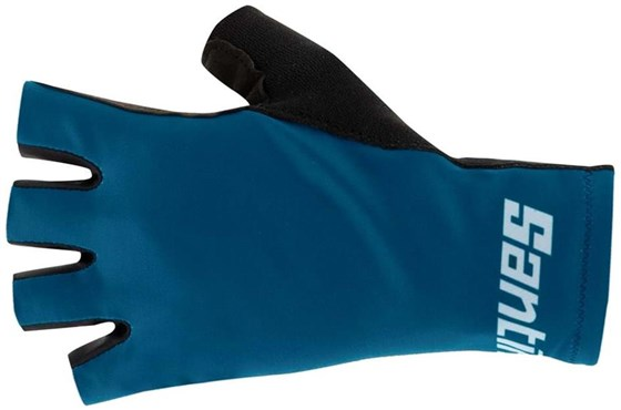 Santini Istino Long Cuff Mitts / Short Finger Cycling Gloves
