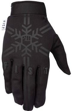 Fist Handwear Frosty Fingers Black Snowflake Long Finger Cycling Gloves