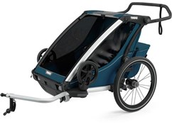 Product image for Thule Chariot Cross 2 Child Trailer with Cycling and Strolling Kit