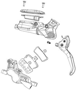SRAM Disc Brake Hose Fitting Kit - Short Nut