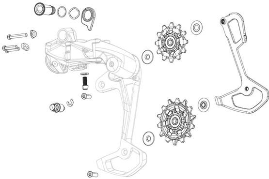 SRAM Rear Derailleur Bolt And Screw Kit SX/NX Eagle