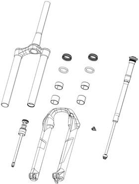 RockShox Internals Right Rebound Adjuster Knob/Boltkit Aluminium Red Long