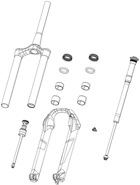 RockShox Revelation RC A1 Internals Right Compression Damper Motioncontrol, Crown Includes Knob And Screw