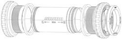 Product image for SRAM Quarq Road Bottom Bracket Spindle Spacer Kit BB30
