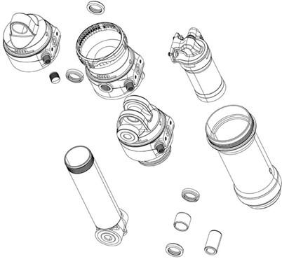 RockShox Rear Shock Ball Nylon Bleed Fixed Piston Kit