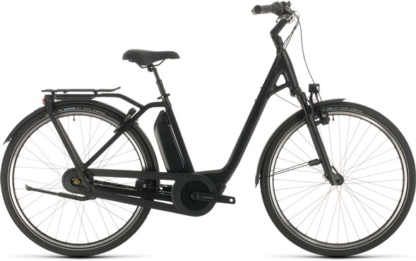 Cube Export Town Hybrid EXC 500 Easy Entry Black Edition 2021 - Electric Hybrid Bike