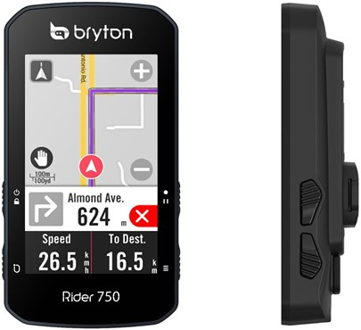 Bryton Rider 750T GPS Cycle Computer with ANT+/BLE HRM / Cadence / Speed Sensor