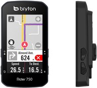 Product image for Bryton Rider 750T GPS Cycle Computer with ANT+/BLE HRM / Cadence / Speed Sensor