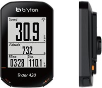 Product image for Bryton Rider 420H GPS Cycle Computer with ANT+/BLE Heart Rate Monitor