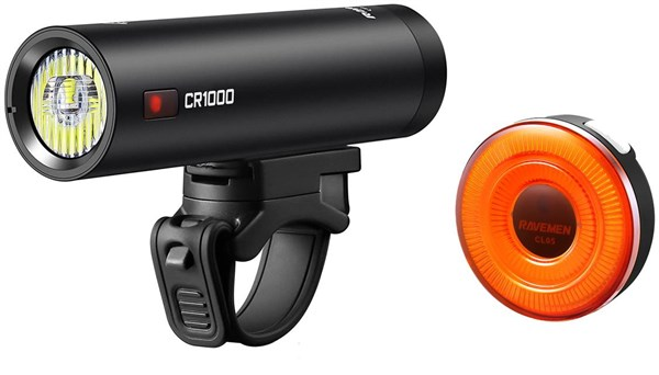 Ravemen CR1000/CL05 USB Rechargeable Light Set - 1000/30 Lumens