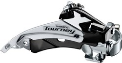 Product image for Shimano FD-TY510 hybrid front derailleur top swing, dual-pull and multi fit