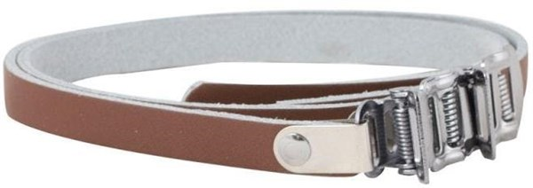 ETC Toe Clips With Brown Leather Straps