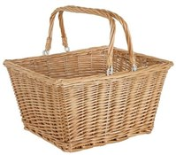 ETC Square Wicker Basket With QR