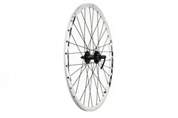 "Tru-Build 26"" Front MTB Wheel Double Wall Mach1 MX26 Rim With CNC Sidewalls 36H QR Hub"