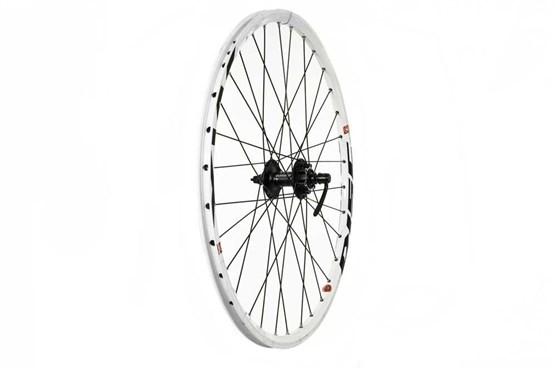 """Tru-Build 26"""" Front MTB Wheel Double Wall Mach1 MX26 Rim With CNC Sidewalls 36H QR Hub"""