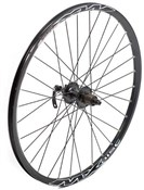 "Tru-Build 26"" Front MTB Disc Wheel Shimano Deore 6 Bolt Disc Hub QR Mach1 MX Disc Black Rim"