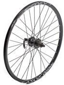 """Tru-Build 26"""" Front MTB Disc Wheel Shimano Deore 6 Bolt Disc Hub QR Mach1 MX Disc Black Rim"""