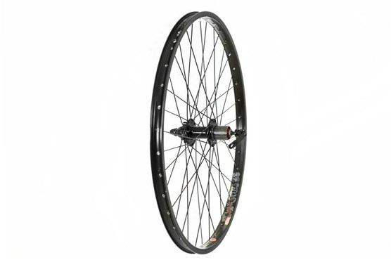 "Tru-Build 26"" Rear Disc Wheel Jump Rim QR 8/9spd Cassette 6 Bolt QR Hub Alex DM24"