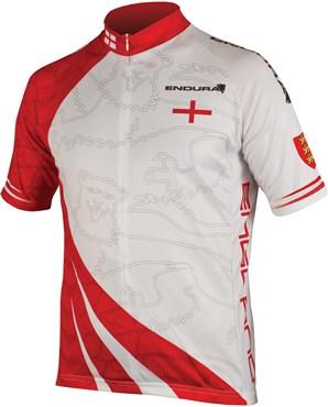 Endura CoolMax Printed England Short Sleeve Cycling Jersey SS16 | Trøjer