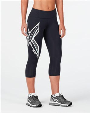 2XU Ice X Mid-Rise Womens Compression 3/4 Tights | Trousers