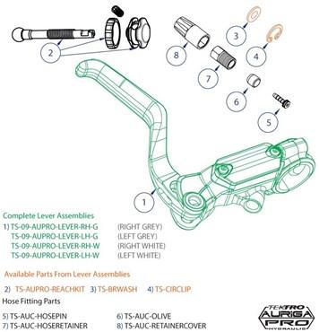 Tektro Auriga Pro Lever Reach Assembly Kit