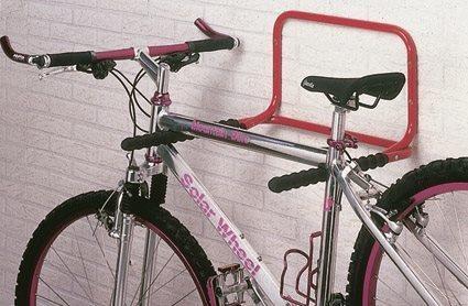 Mottez 2 Bike Folding Wall Mount Storage Rack