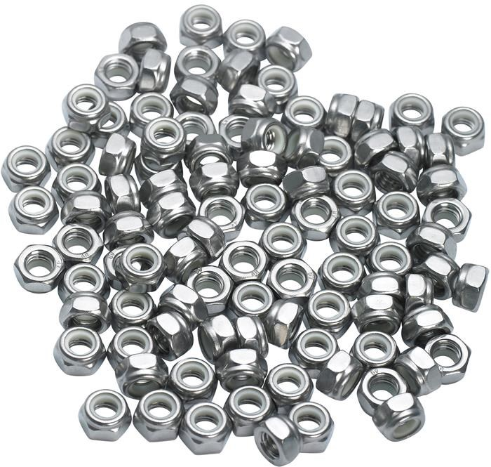M Part Nyloc Stainless Steel Nuts Pack Of 100 | nuts_and_bolts_component