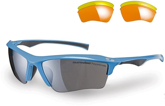 Sunwise Odyssey Sunglasses With 3 Interchangeable Lenses