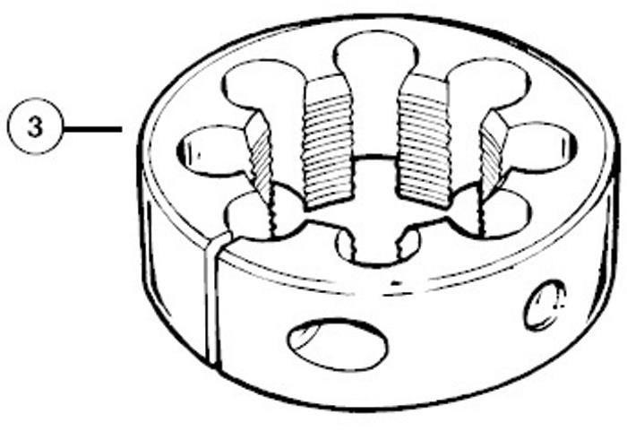 Park Tool 606 Cutting Die 1 inch x 24 TPI For FTS1 | Værktøj