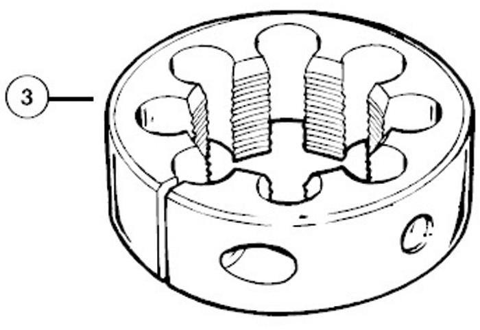 Park Tool 608 Cutting Die 1-1 / 4 inch x 26 TPI For FTS1 | Værktøj