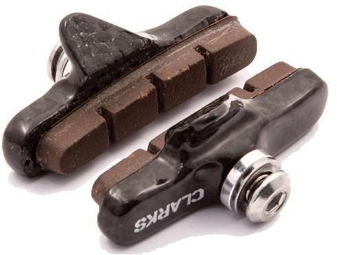Clarks Road Brake Pads w/Ultra-lite Carbon Carrier & Insert Pads for Carbon Rims | Bremseskiver og -klodser