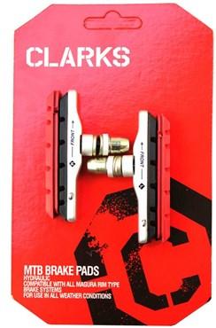 Clarks MTB/Hybrid V-Brake Pads XTR Upgrade Threaded Type + Extra Pads