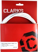 Product image for Clarks Universal S/S Front & Rear Brake Cable Kit w/P2 Outer Casing