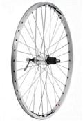 "Tru-Build 26"" MTB Rear Wheel 7spd Cassette QR Mach1 MX26 Double Wall Rim With CNC Braking Surface"