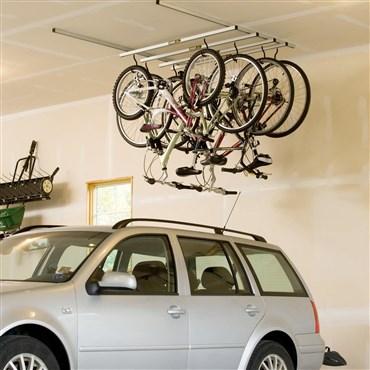 Saris Parking Cycle Glide Ceiling Mount Storage Rack - 4 Bikes