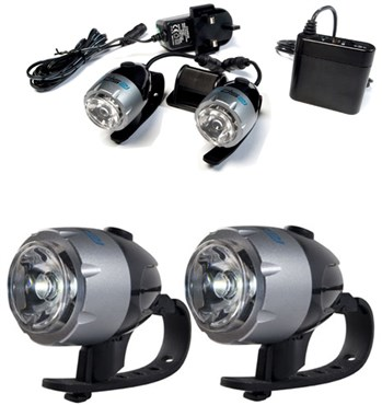 RSP Asteri 2 x 1 Watt Rechargeable Front Headlight Set - 2 Pack