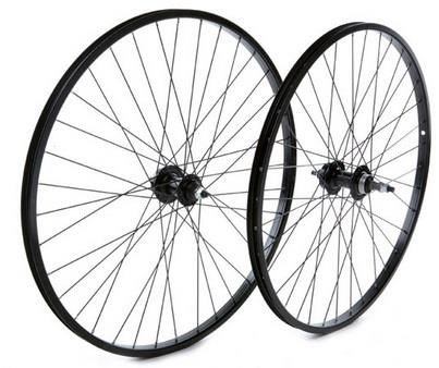 "Tru-Build 26"" MTB Rear Disc Wheel SingleWall Rim 6Bolt Nutted Axle Screw-On"