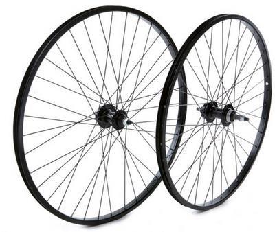 """Tru-Build 26"""" MTB Rear Disc Wheel SingleWall Rim 6Bolt Nutted Axle Screw-On"""