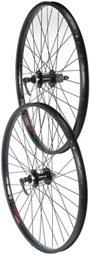 "Tru-Build 26"" Double Wall Jump Front Disc Wheel 6 Bolt QR Disc Hub Built Onto Alex DM24"