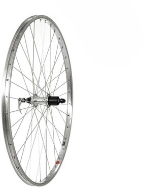 "Tru-Build 26"" MTB Rear Wheel Alloy Rim Shimano 7 Speed Cassette Hub QR"