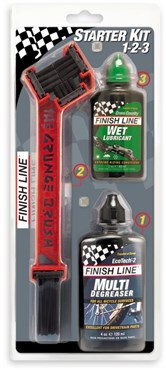 Finish Line Starter Kit 1-2-3 Grunge Brush w / 4oz Deg and 2oz Lube
