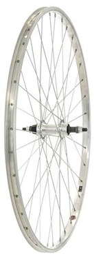 Tru-Build 700c Rear Wheel Alloy Rim Silver Screw-on Alloy Nutted Hub