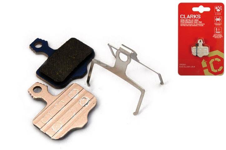 Clarks Elite Semi-Metallic Disc Brake Pads for Avid Elixir CR/R, Elixir, Sram XX, Spring Inc | Brake pads