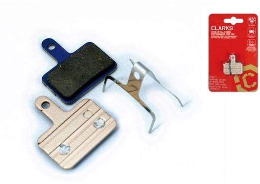 Clarks Elite Semi-Metallic Disc Brake Pads for Shimano Deore BR-M515/M475/M525/M465/M495, Tektro Augira Comp/Draco/Aquila/HDC-300/Mota