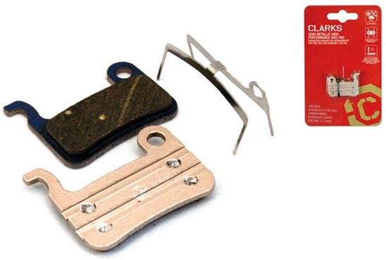 Clarks Elite Semi-Metallic Disc Brake Pads for Shimano XTR (M965/M966)/Saint/Deore M535/Hone M60/LX M585, Clarks HDB-540/790/600