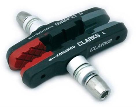 Clarks Elite MTB/Hybrid Brake Pads Integral Block w/Triple Compound Insert Pads