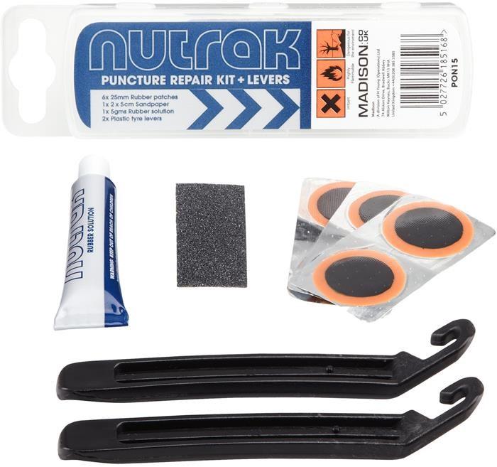 Nutrak Puncture Repair Kit & Tyre Levers (Pack of 25 - Sell as Single) | Repair Kit