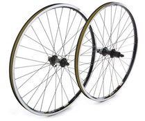 "Tru-Build 26"" MTB Wheel Shimano Deore Hub Mach 1 MX Black Rim QR 8/9spd"