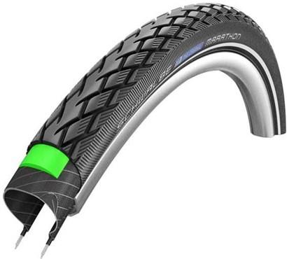 "Schwalbe Marathon Reflective GreenGuard Wired 27"" E-Bike Tyre"